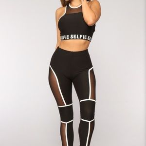 Tank top and leggings matching set